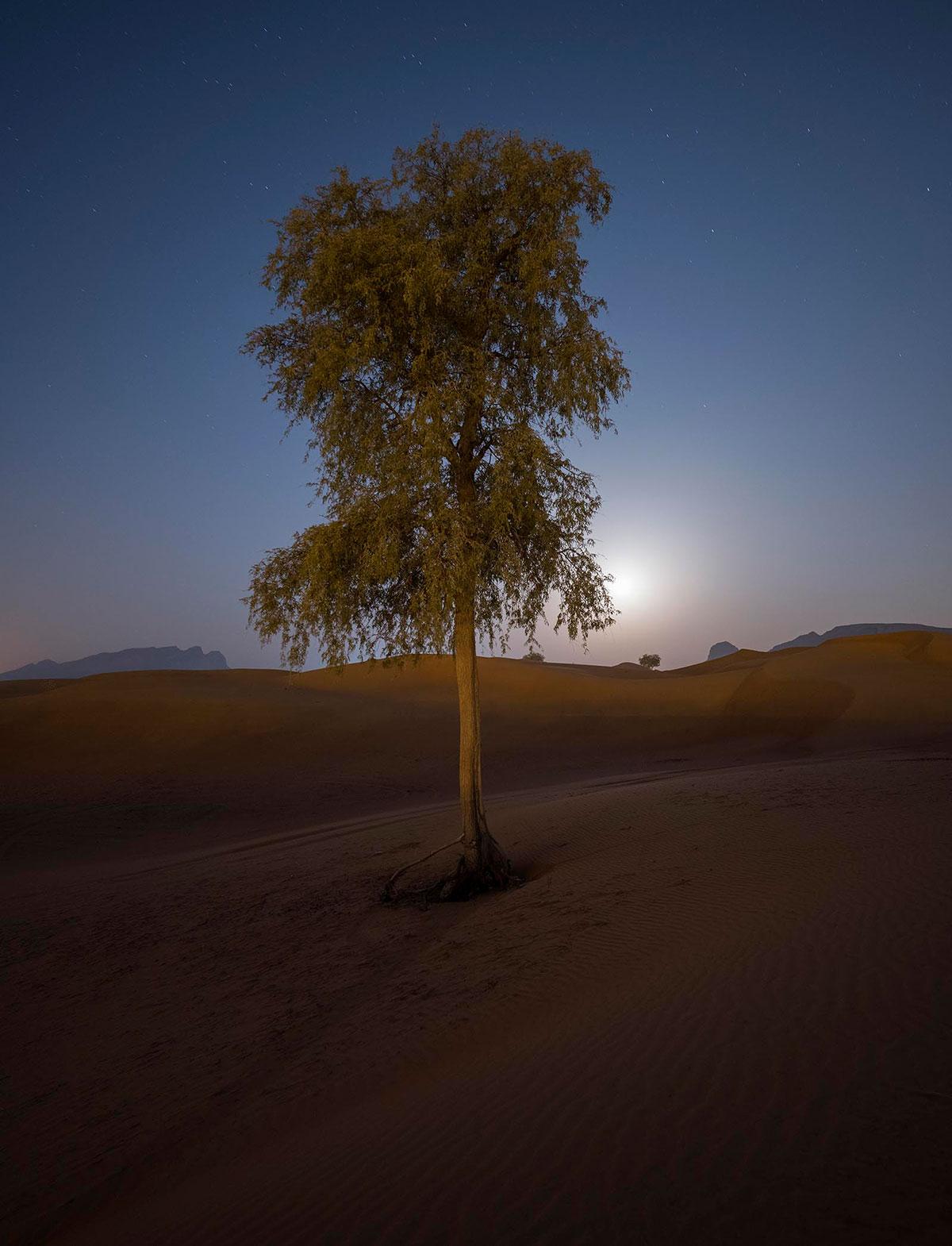 Astro image at the dubai desert