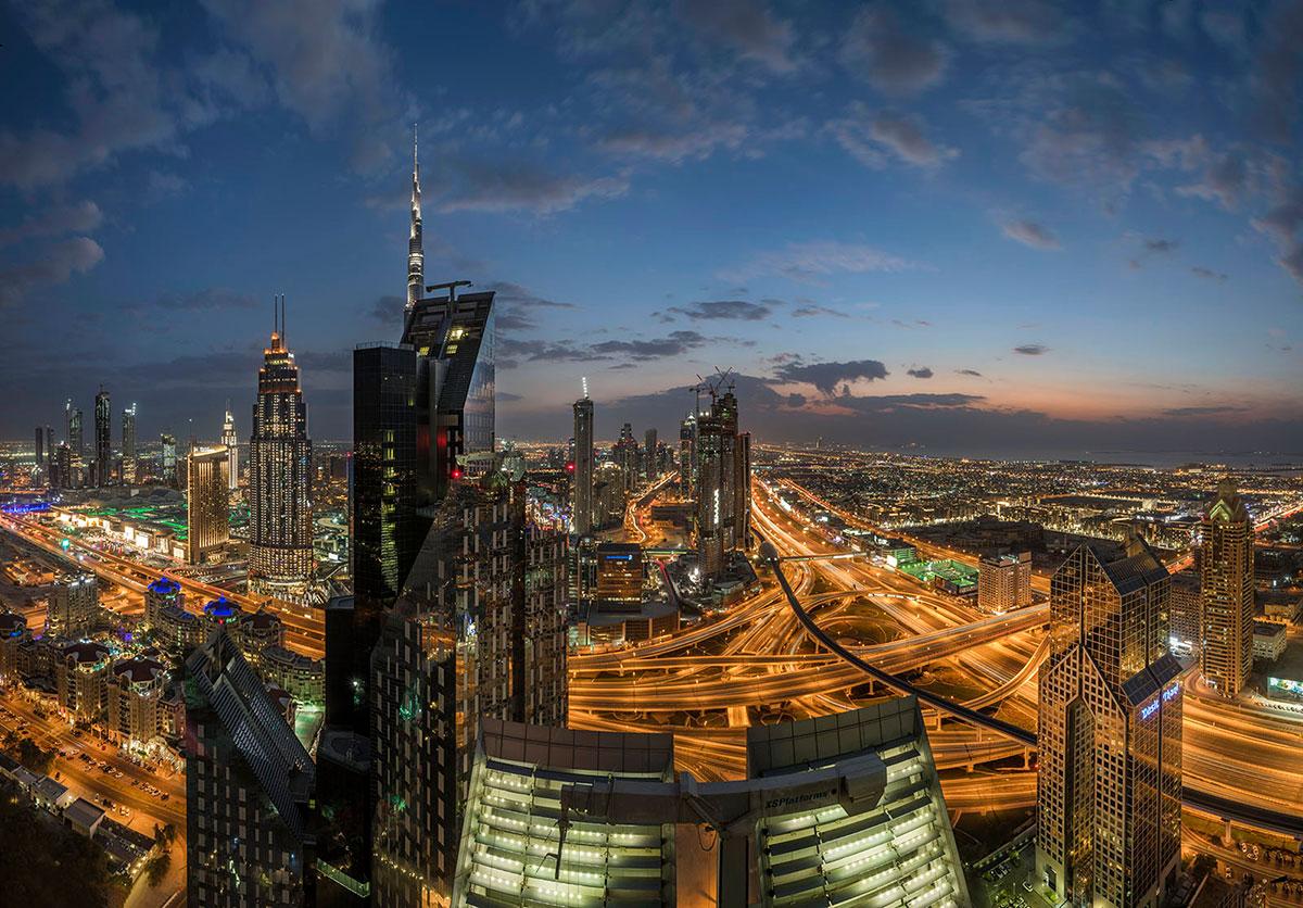 Dubai panoramic image