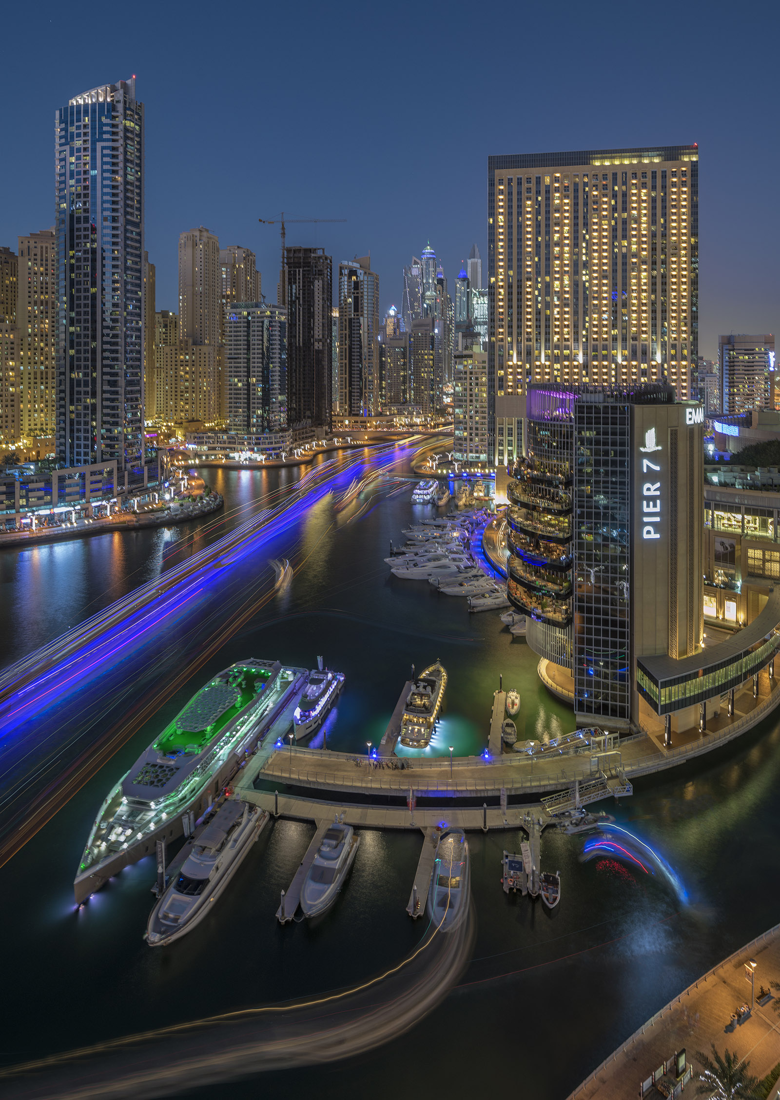 Blue hour at the Dubai Marina