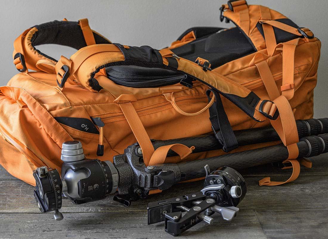 Tripod attachment to F-stop Gear bag