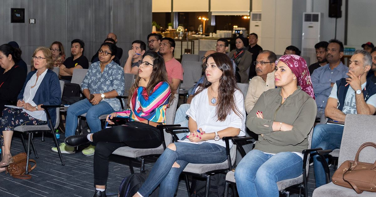 Participants during Dany Eid photo talk