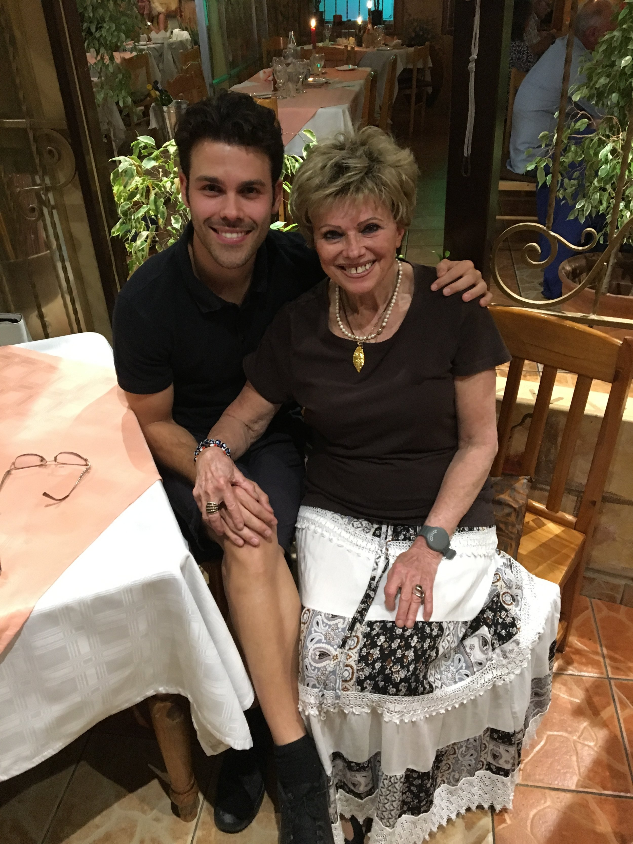 This is Grazziella - She owns the most authentic Italian restaurant in the world. Her mantra to live by is you're as young as the man you touch! #BINGO