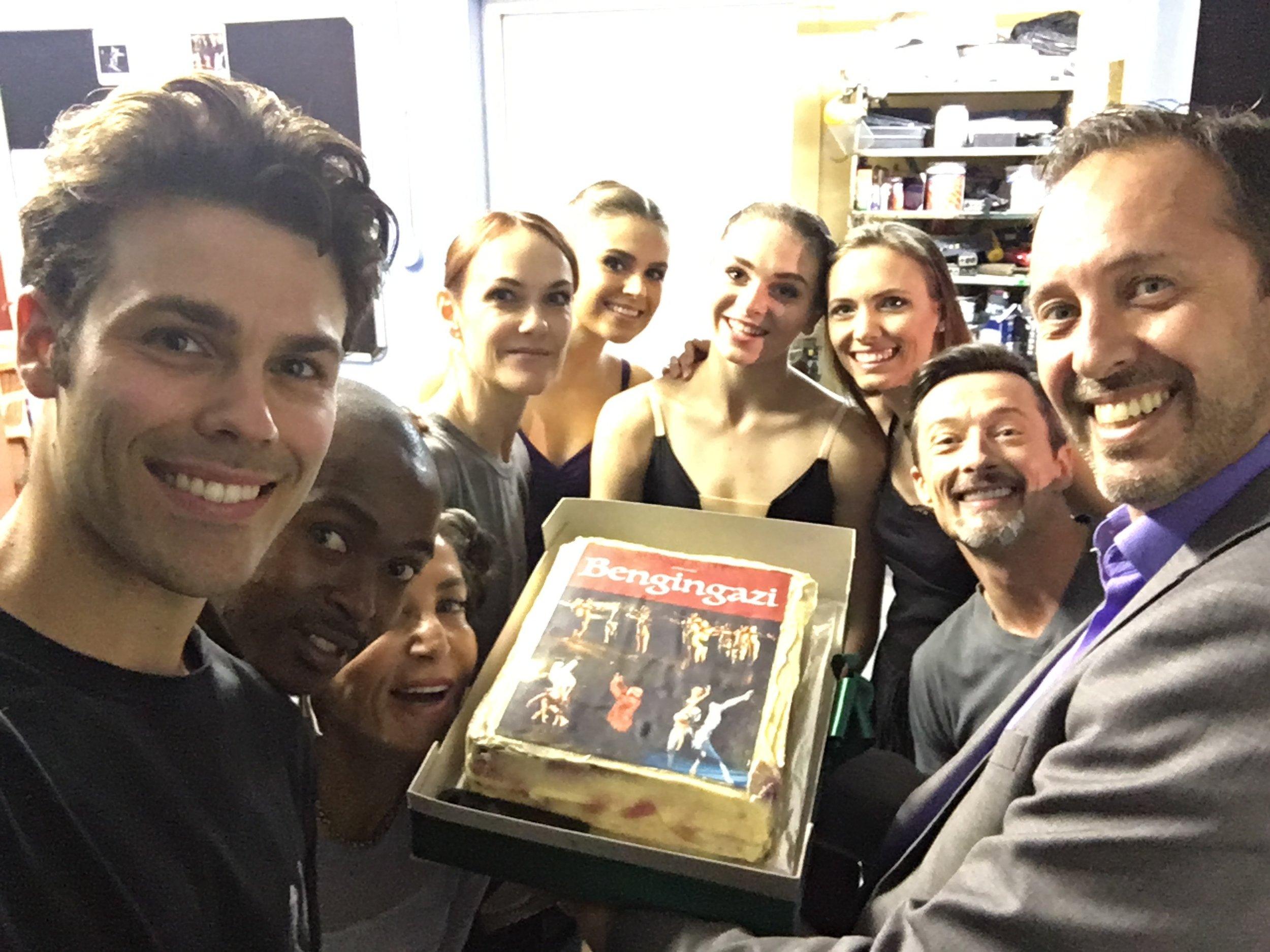- Beautiful Cast and Cake!