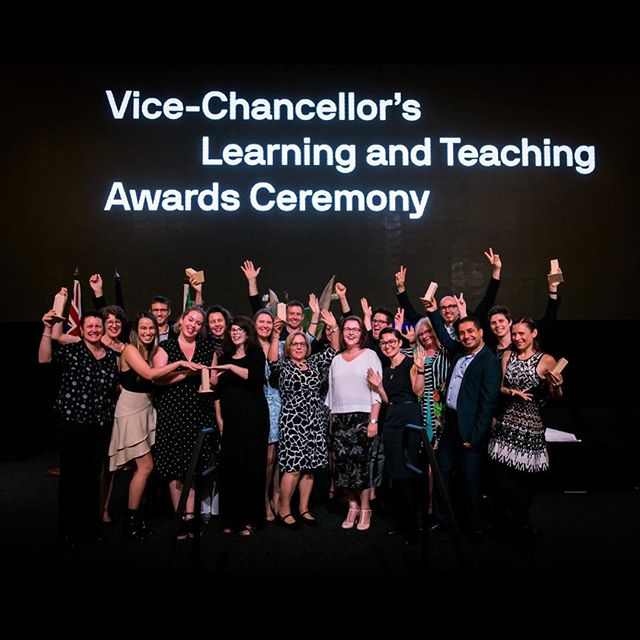 Winner winner chicken dinner! 👩🏻‍🏫🏆💃🏻 Last week our little team from Career Management for Scientists took home the Team Teaching Award at the Vice Chancellors Learning and Teaching Awards Ceremony. Helena and Alex are the first professional female mentors I've ever had. I am incredibly grateful to teach along side such passionate, funny and fierce women. I'm lucky to have them as mentors who continue to help me grow, continually provide me with new opportunities and include me on prestigious awards like this one. Not to mention that Helena looked like such a badass accepting our award and presenting our work on stage while she was very, VERY pregnant. Hahahaha, she is the perfect example of being able to do it all. Plus her belly made a great stand for our trophy!  #whoruntheworld #womeninSTEM #womendoingscience #empoweredwomenempowerwomen