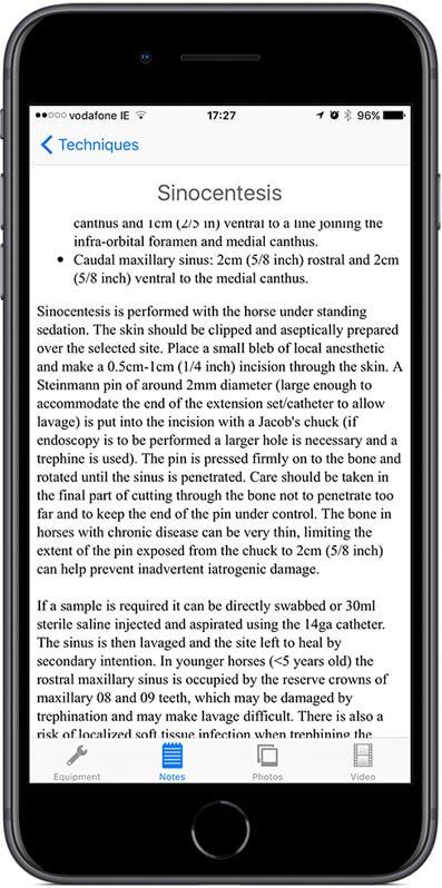 Full written description of each technique.