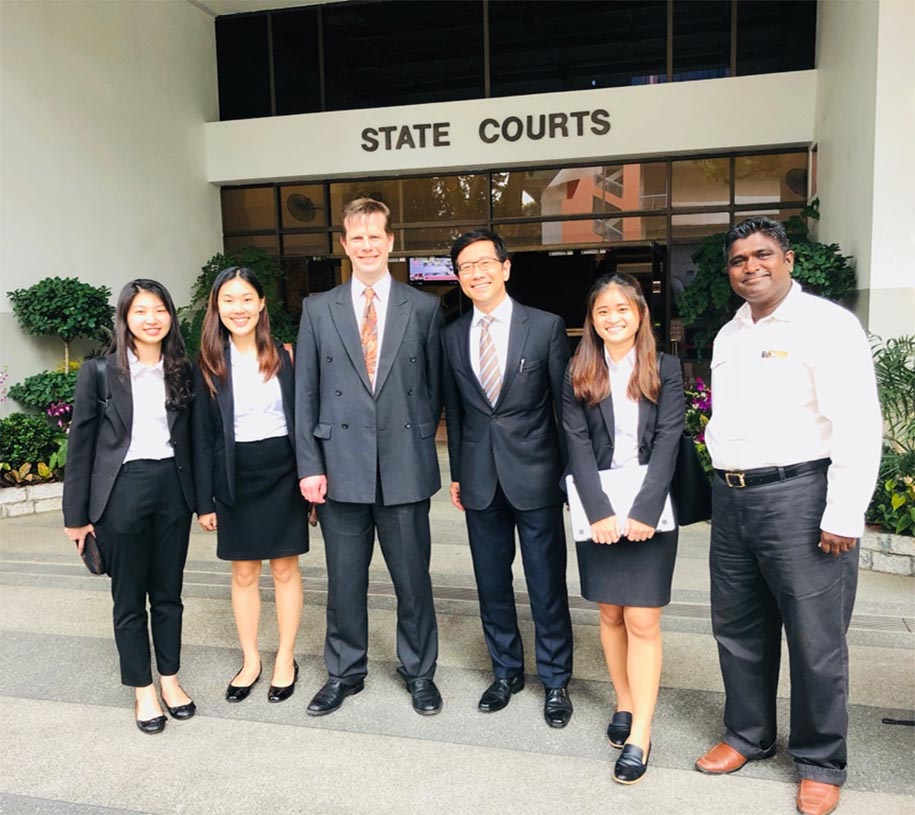 Dr Kevin Corley acting as an expert witness in Singapore