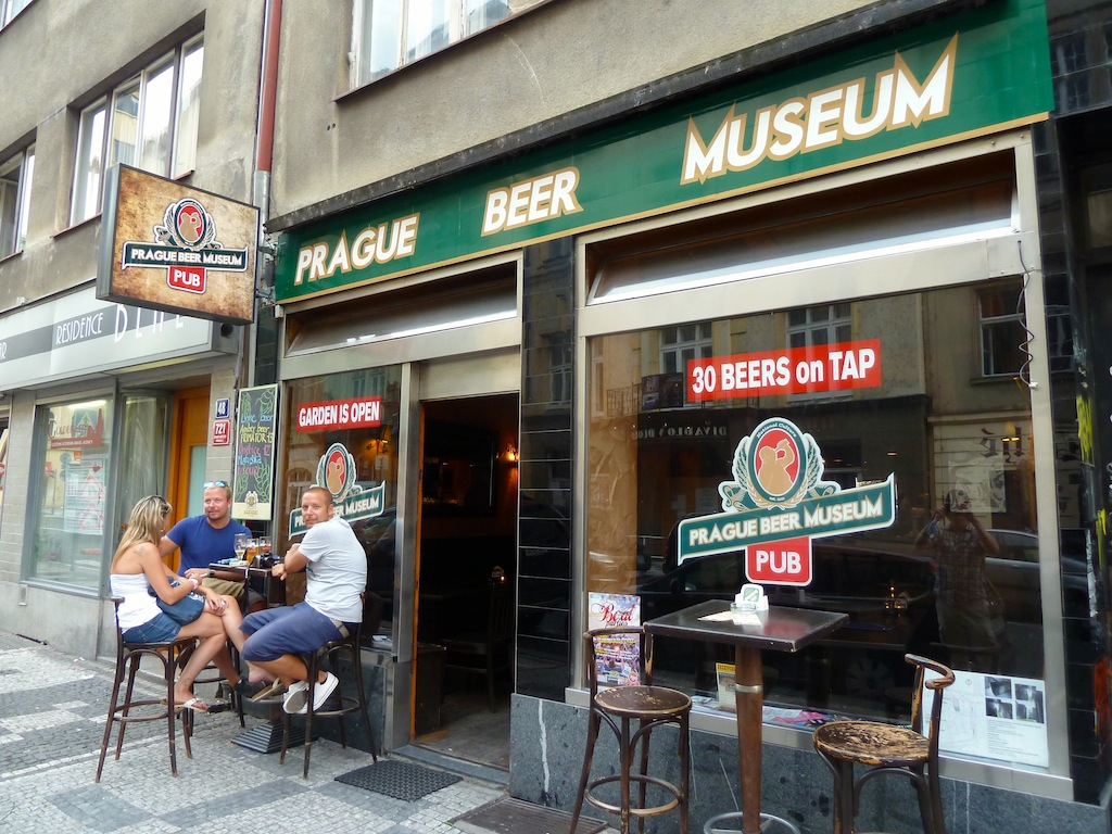 Prague Beer Museum - there are two one is old town and the other one is in Ameriska, the one in Ameriska is much bigger, more open and less touristy.