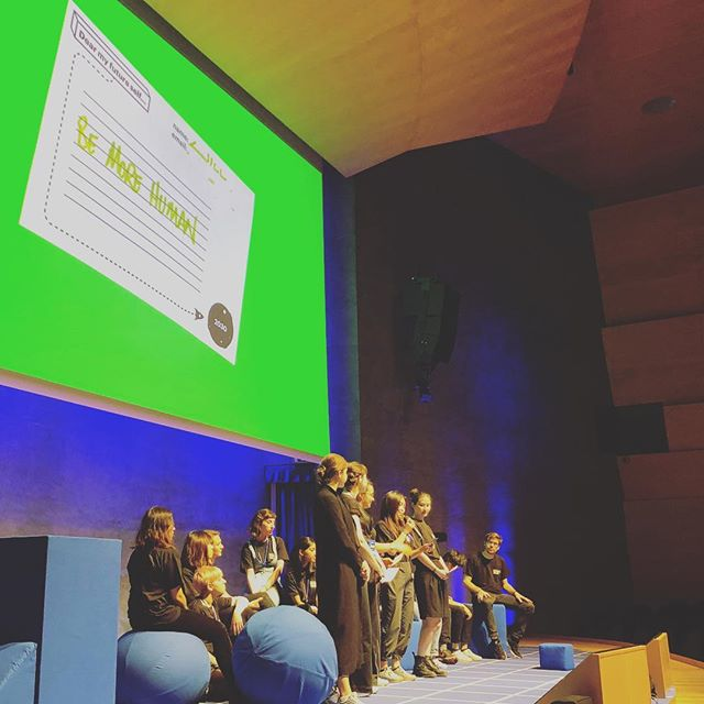 Amazing Humans. #TBT to Saturday & Futures Studio participants on stage at @iam_internet Weekend 2018. Sharing Planetary Futures Goals for 2030. Optimistically critical movements for positive change. Thanks to all the amazing internet people we met who has support, advice and opportunities for the studio. We can't wait to invent what happens next. To learn more hit the link in our bio. And if you want to explore futures for things you care about with amazing humans then talk to us 💙🌍🙌 #iamw18 #ual #ualfutures