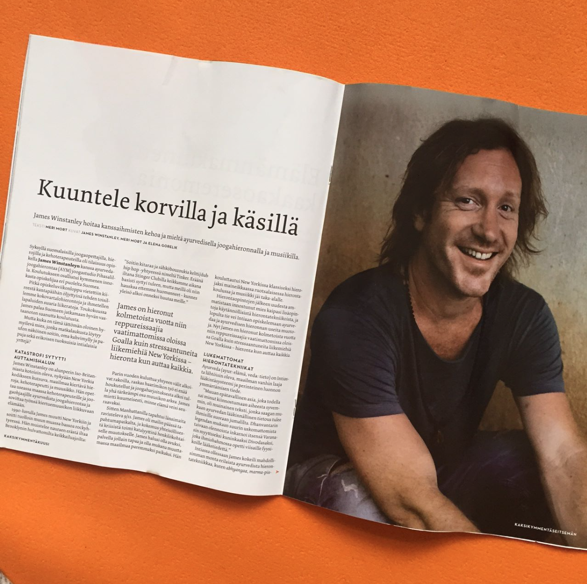 Article about AYM & James in Ananda Magazine - Finland