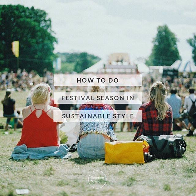 There's a distinct whiff of sustainability in the air for the 2019 festival season, and this year it's about more than compost loos 💩 @glastonfest banned the sale of alcohol, soft drinks & water in single-use plastic bottles & saw more than 99% of tents collected after the fun was over - a huge improvement on previous years, when the amount of clothing and camping equipment left behind by festival-goers exceeded 11 million tonnes. @latitudefest have pledged to keep 100% waste out of landfill and the pioneering @shambalafest will be powered using 100% renewable energy 💚 . . . It's amazing to see the efforts being made by organisers to lower the environmental impact of the festival scene, and as festival-goers we can play our part too! We've put together some super easy tips on how to do festival season in sustainable style (link in bio). Are you heading to any festivals this year? What are you doing to be more sustainable? Share what you're up to and inspire our community! . . . #plasticfreeJuly #goplasticfree #sustainablefashion #togetherstreet #glastonbury #festival #summer2019 #zerowaste #greenlivingtips #consciousconsumer #lovedclotheslast
