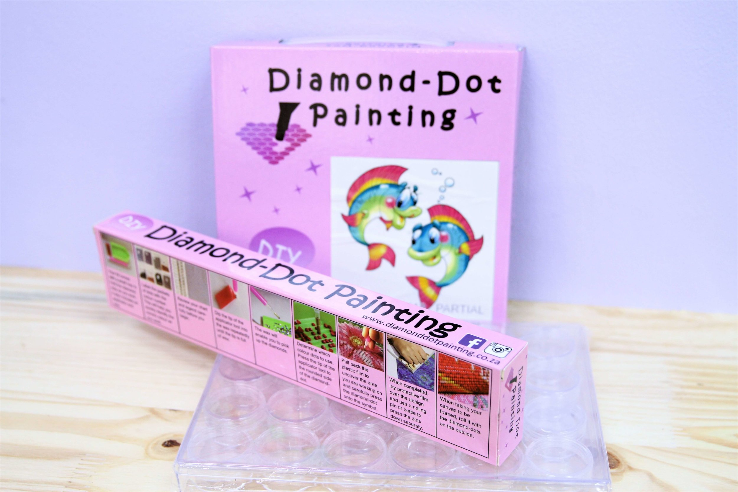 Diamond Dot Painting - Diamond-Dot Painting is an awesome new DIY craft involving the completion of beautiful designs using small, faceted beads. View our gallery for the current designs available.