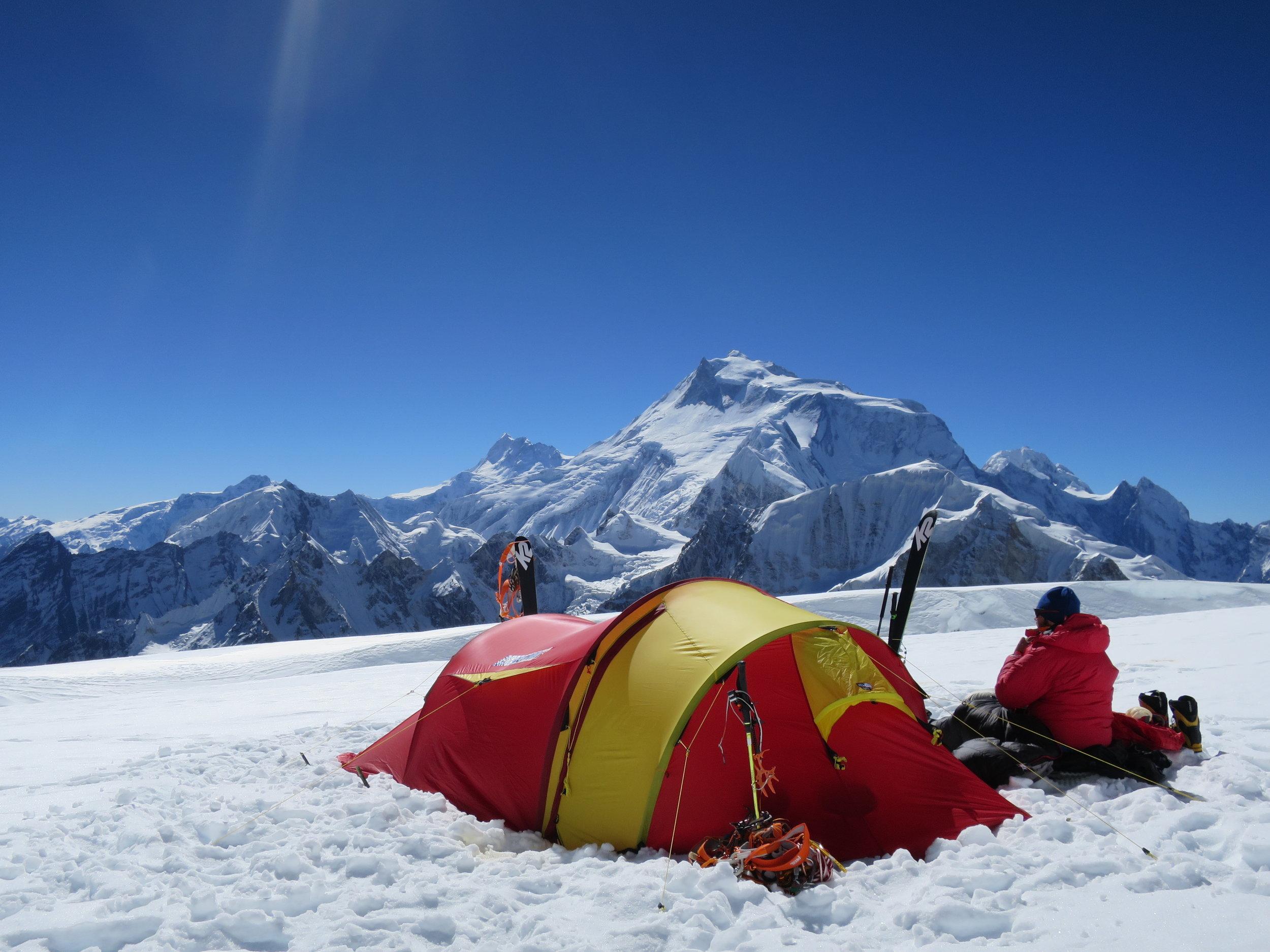 The wiev from our tent on 6000 meters on Pawar Himal. foto jørgen aamot - MAM.jpg