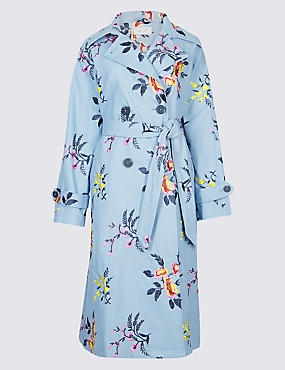 PER UNA - Keeping with the floral theme this embroidered trench coat will give you a Spring look to brighten any rainy day.