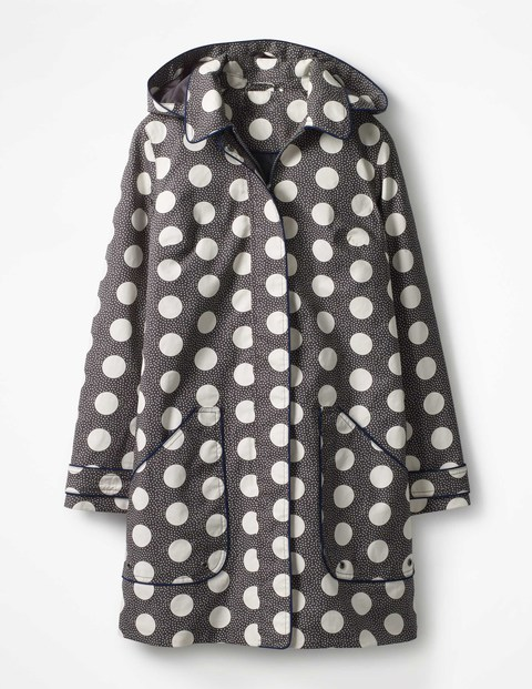 BODEN - Polka dots are in but if you are not a fan, there are three other designs to choose from in this Anya waterproof mac.