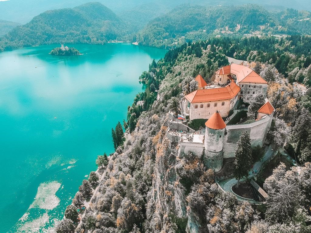 Go up to the Bled Castle to see the breath-taking views of the lake