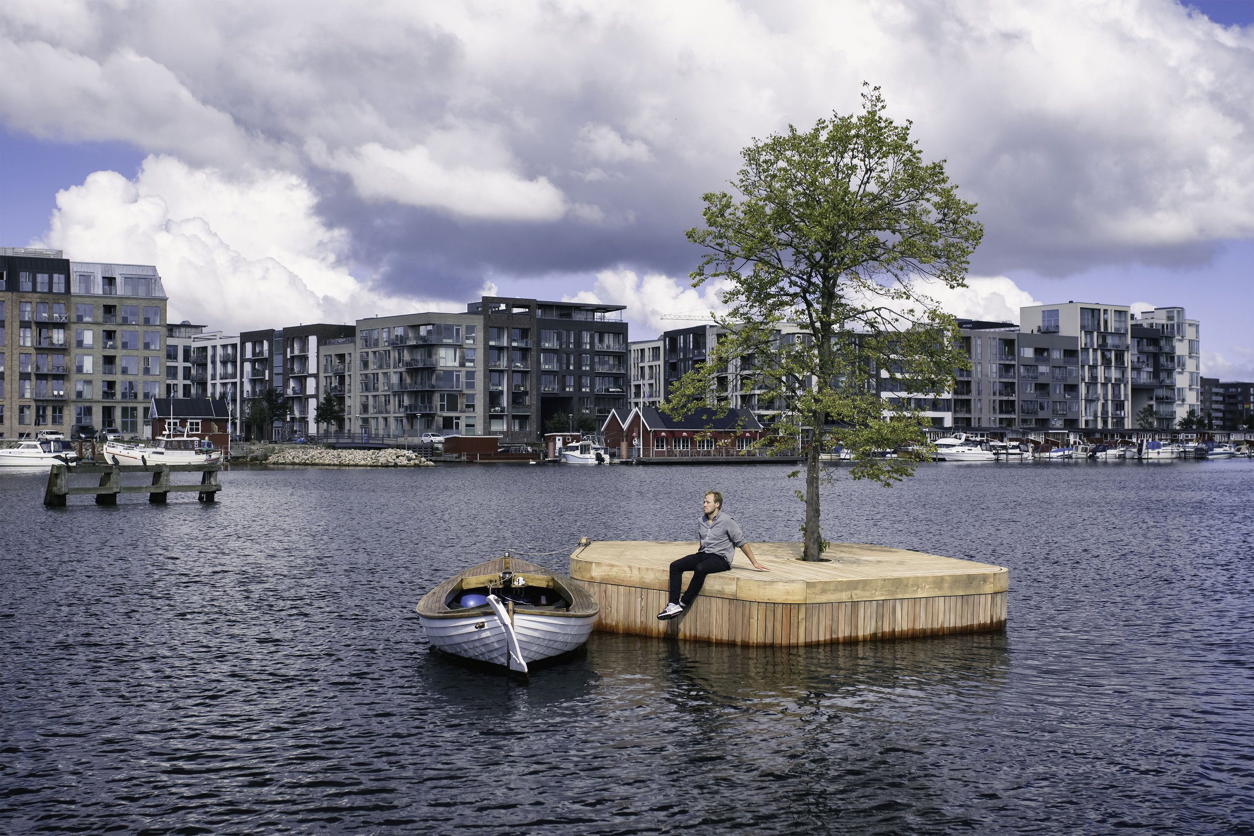CPH-Ø1 is the FIRST IN A series of new experimental FLOATING PUBLIC spaces IN COPENHAgEN HARBOR -