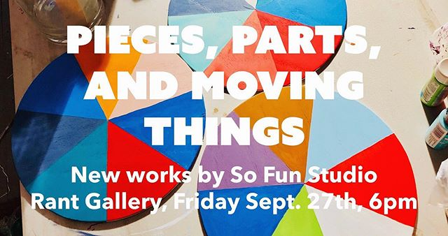 This Friday at 6pm at @rantgallerycle come see some new very silly pieces by us!!!!!! @egweeds + @jpcform = @sofunstudio 🌈🌈💕🐸❣️🔺🔴🔶⚪️🔺🔺