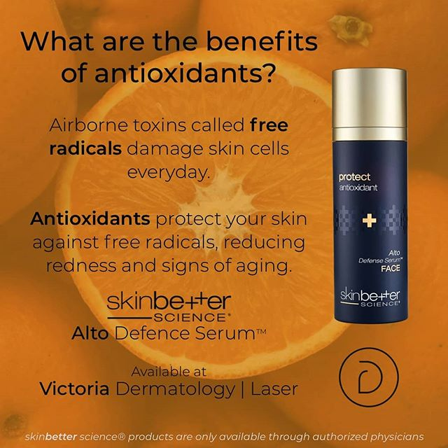 For the first time, 19 antioxidants have been stabilized in a single serum. The result? Broad-spectrum protection from environmental toxins called free radicals. #skinbetterscience #alto #dermatology #skincare #victoriabc