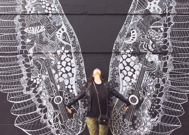 wing mural by  Kelsey Montague  in Nashville, TN // #whatliftsyou