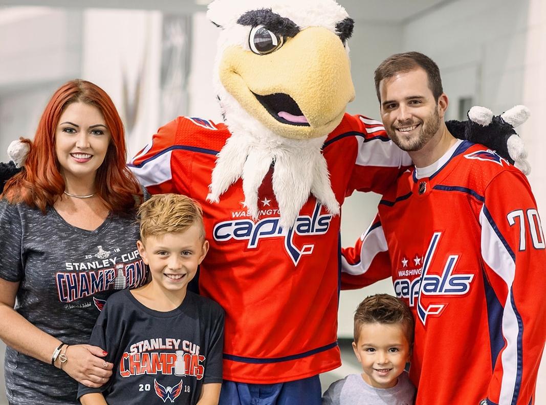 Marek Family Capitals Ice Hockey Photoshoot
