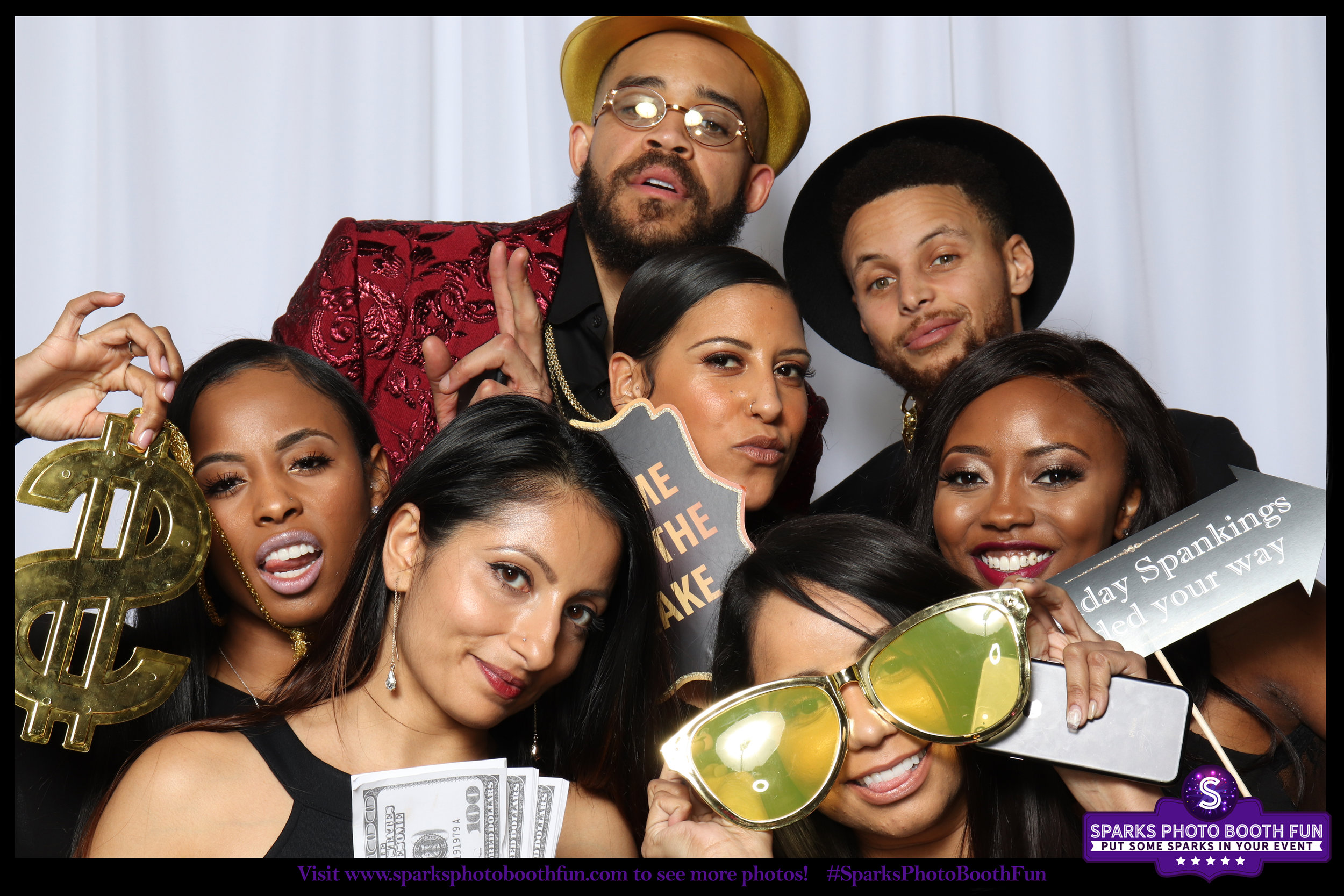 Javale McGee  and  Steph Curry  of the  Golden State Warriors  at Javale's 30th birthday party.