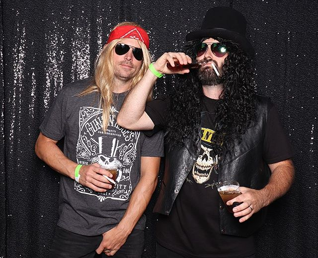 #slash and #axl like our open air booth.  80s themed event.