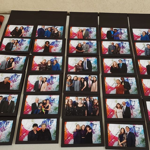 4x6 prints with photo frames for the reception tonight. #photobooth #sparksphotoboothfun