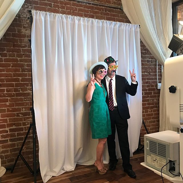 Open air photo booth set up for this evening.  #sparksphotoboothfun #photobooth #openair #wedding #event