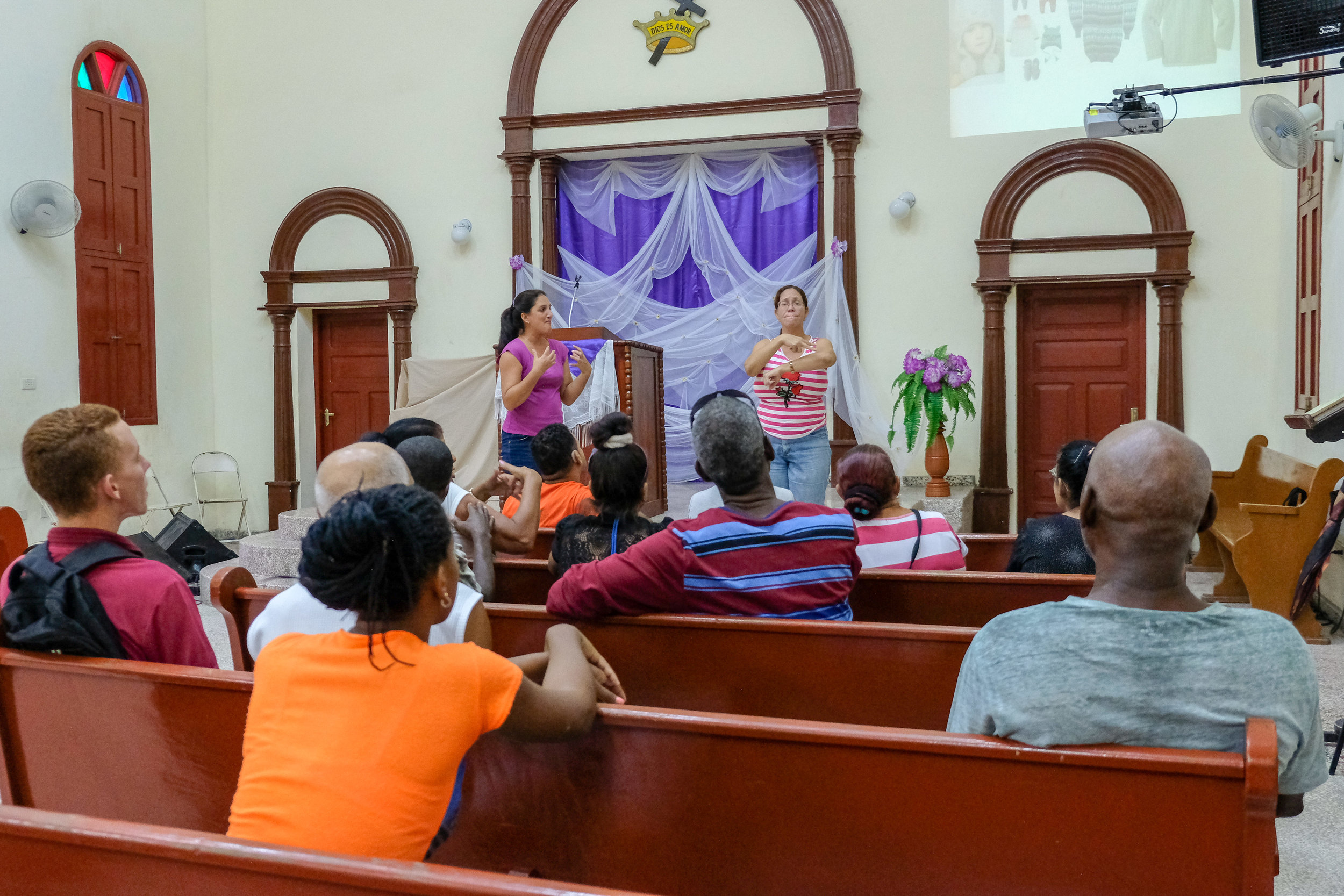 Workshop for Guantánamo Deaf adults- Lost Sheep bible story