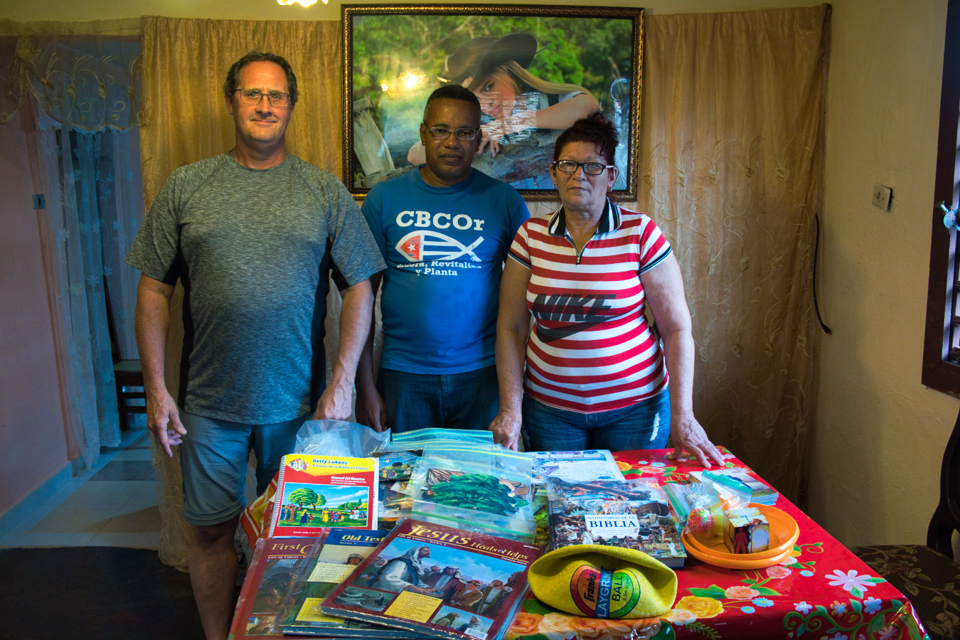 Maisi Pastor and Deaf ministry leader with resources provided by D2S