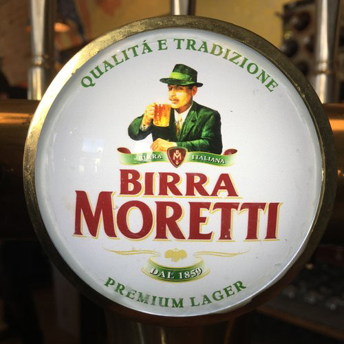 Birra Moretti - a premium Italian lager made with a special blend of high quality tops that gives it a unique taste.