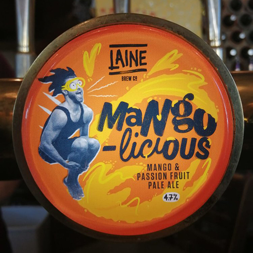 Mango-licous - a fruity mango & passionate pale ale made with natural fruit extracts, citra and mandarina bahrain hops.