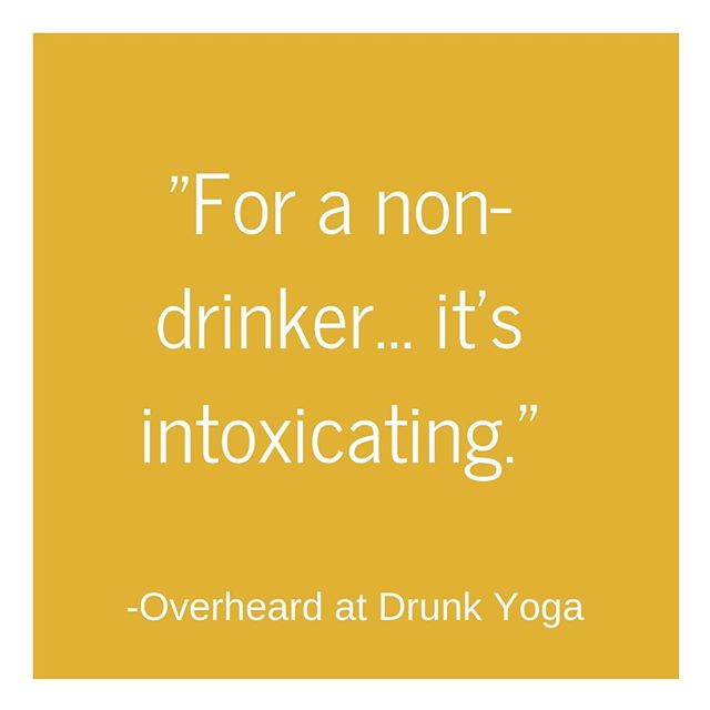 "With a name like ""Drunk Yoga"" people often assume our classes are in fact about drinking.⁠ ⁠ Well, here's some news: While many of our classes do incorporate a glass of wine, that's far from the point of them. When we say ""Drunk Yoga"" we mean drunk on community, on joy, on life.⁠ ⁠ You don't need to drink wine to join us. You don't need to drink at all to join us. These classes are for everyone.⁠ ⁠ We just ask that you show up 💜 (And we guarantee that you'll leave happier than you came-that is our mission after all 😉) ⁠ .⁠ .⁠ .⁠ .⁠ .⁠ .⁠ .⁠ .⁠ .⁠ .⁠ .⁠ .⁠ .⁠ .⁠ .⁠ #drunkyoga #drunkyogaclass #health #winelover #wine #wineyoga #rooftopyoga  #yogaclass #yoga #namaste #yogi #yogaeverydamnday #secretnyc #yogaeverywhere #yoganyc #igyoga #happyhour #yogaforbeginners #timeoutny #inspiredyogis  #thingstodoinnyc #NYC #thrillist #yogaforeveryone⁠ #liftingspirits #classicnyc #practiceandalliscoming #yogaddict #bendiyogisflow #igyogafam⁠ ⁠"