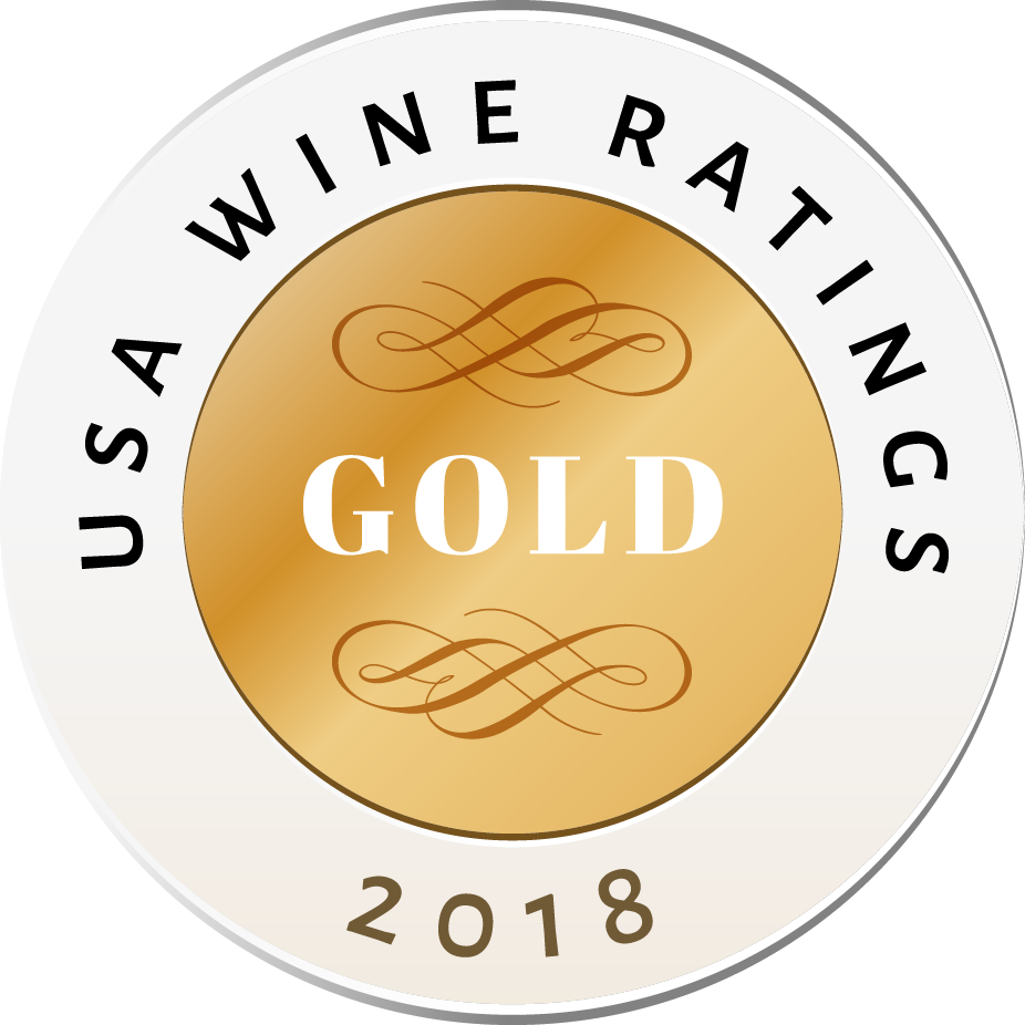 Awarded a Gold Medal at the 2018 USA WINE RATING competition