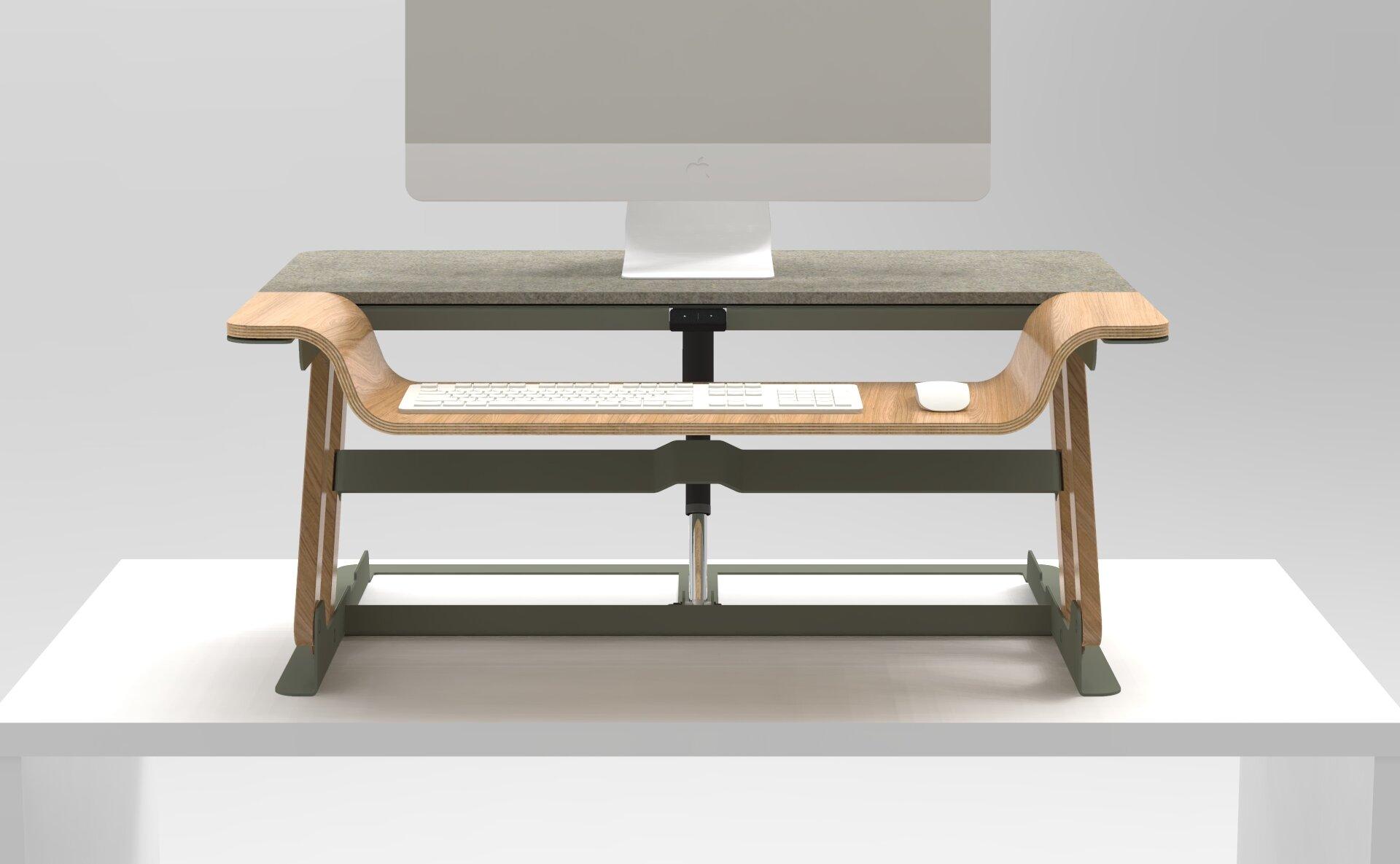 Artisan Desk Adaptor Projects Presentation Isometric View