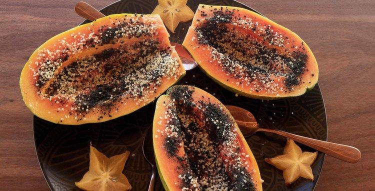 super food papaya boats