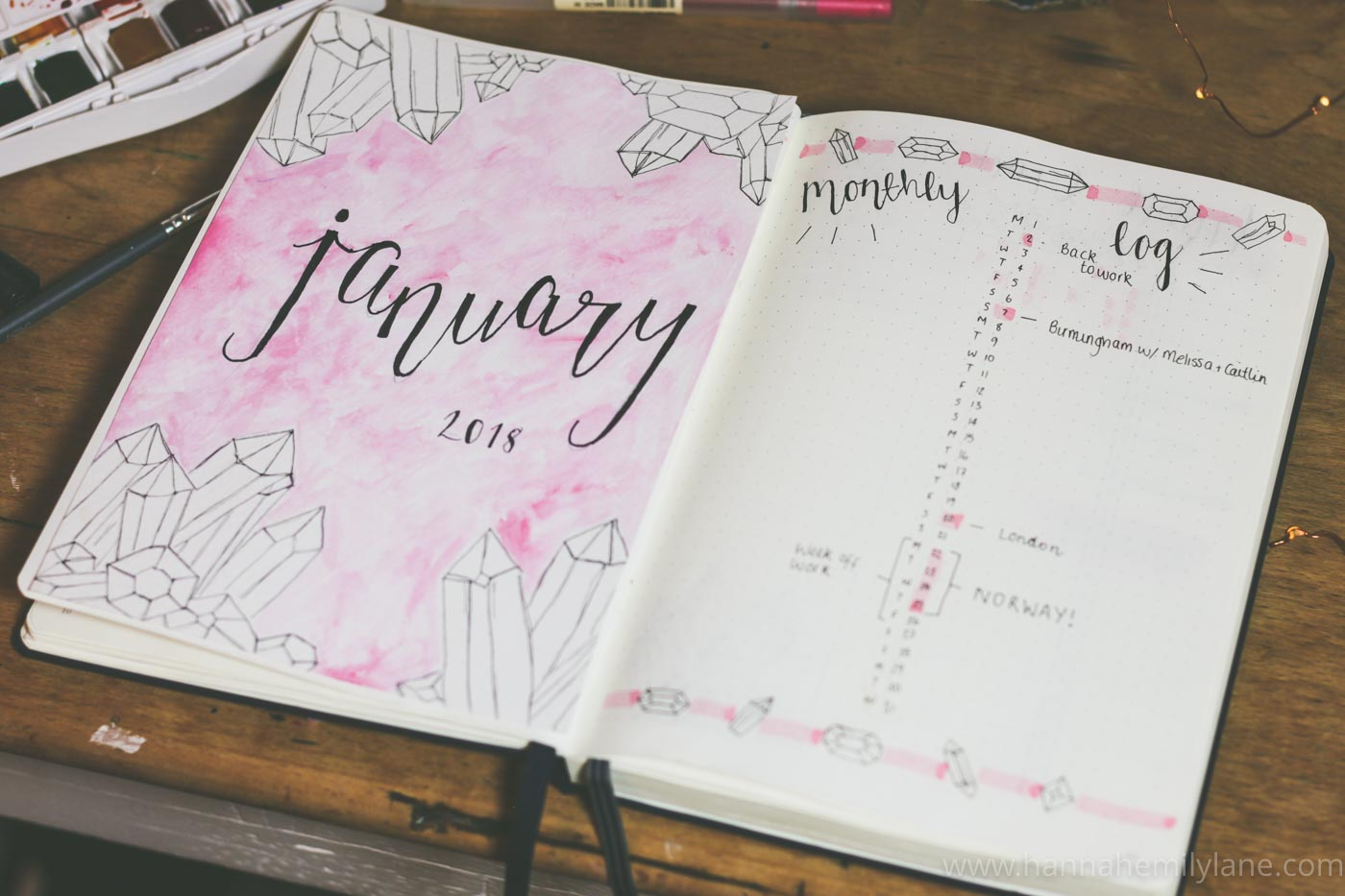 2018 Bullet Journal Set Up   www.hannahemilylane.com