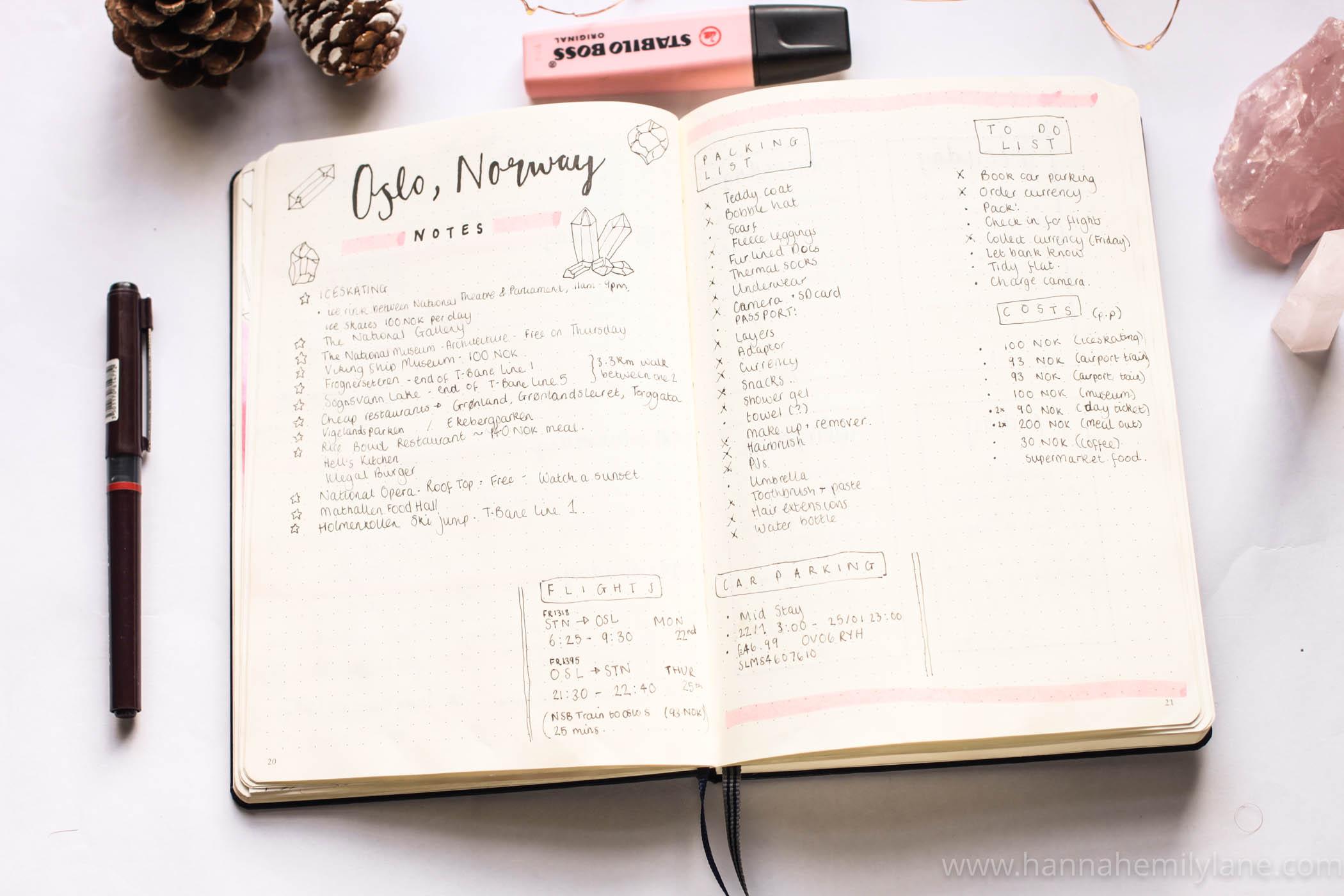 Bullet Journal Setup    www.hannahemilylane.com
