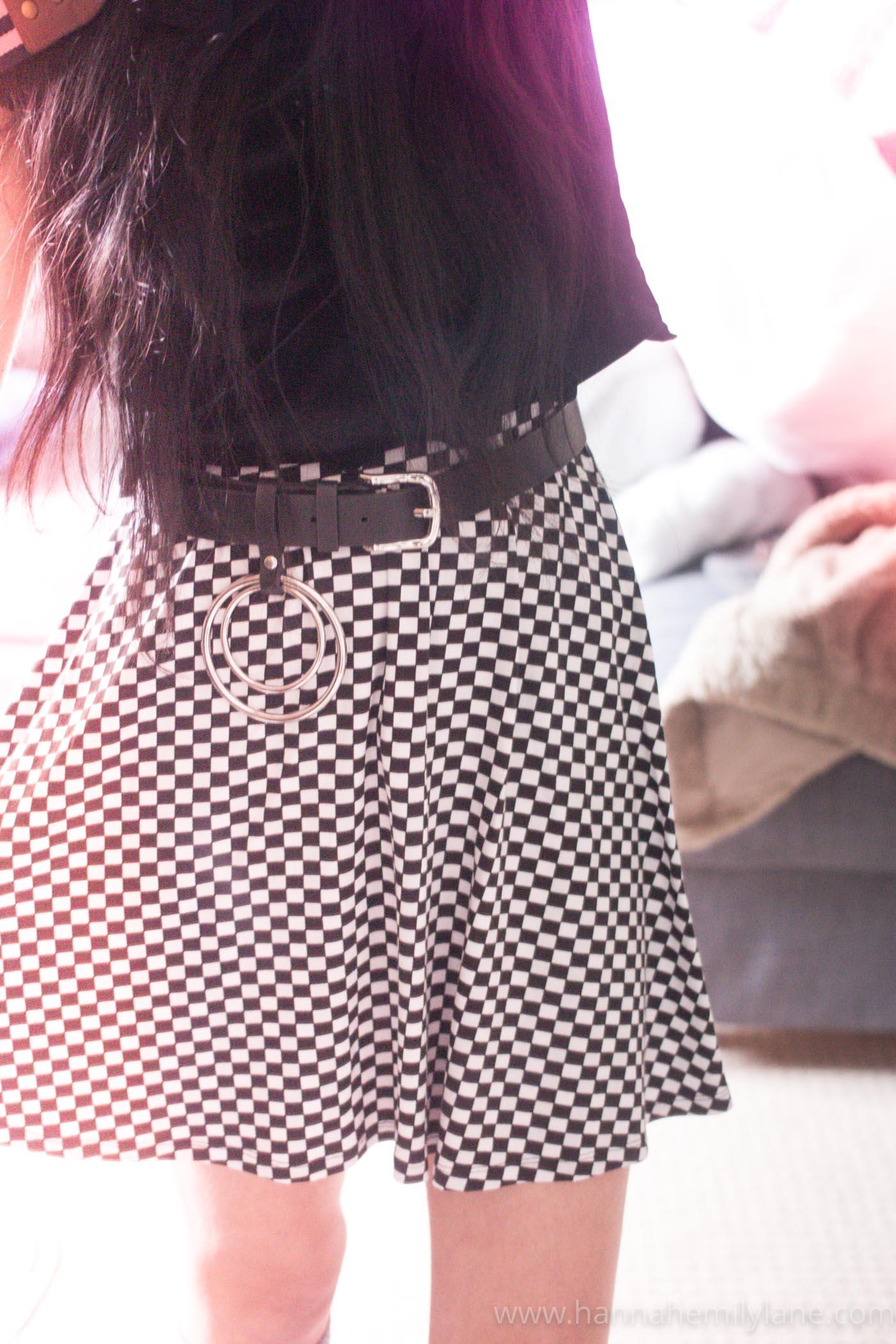 Checkerboard Skirt  | www.hannahemilylane.com