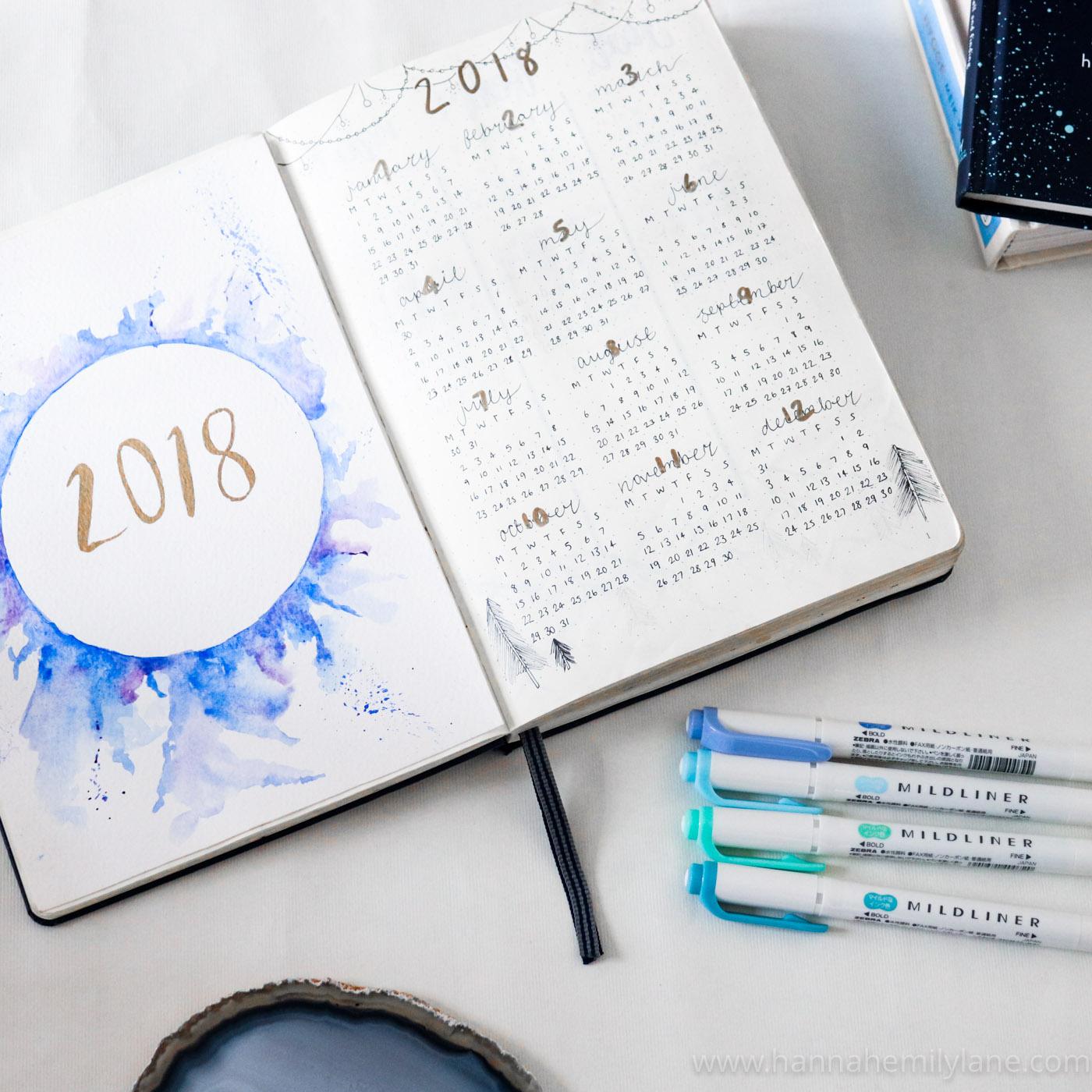 Bullet Journal Setup 2018 | www.hannahemilylane.com