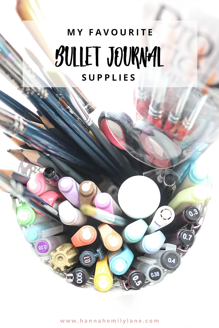 Bullet Journal Essentials | www.hannahemilylane.com