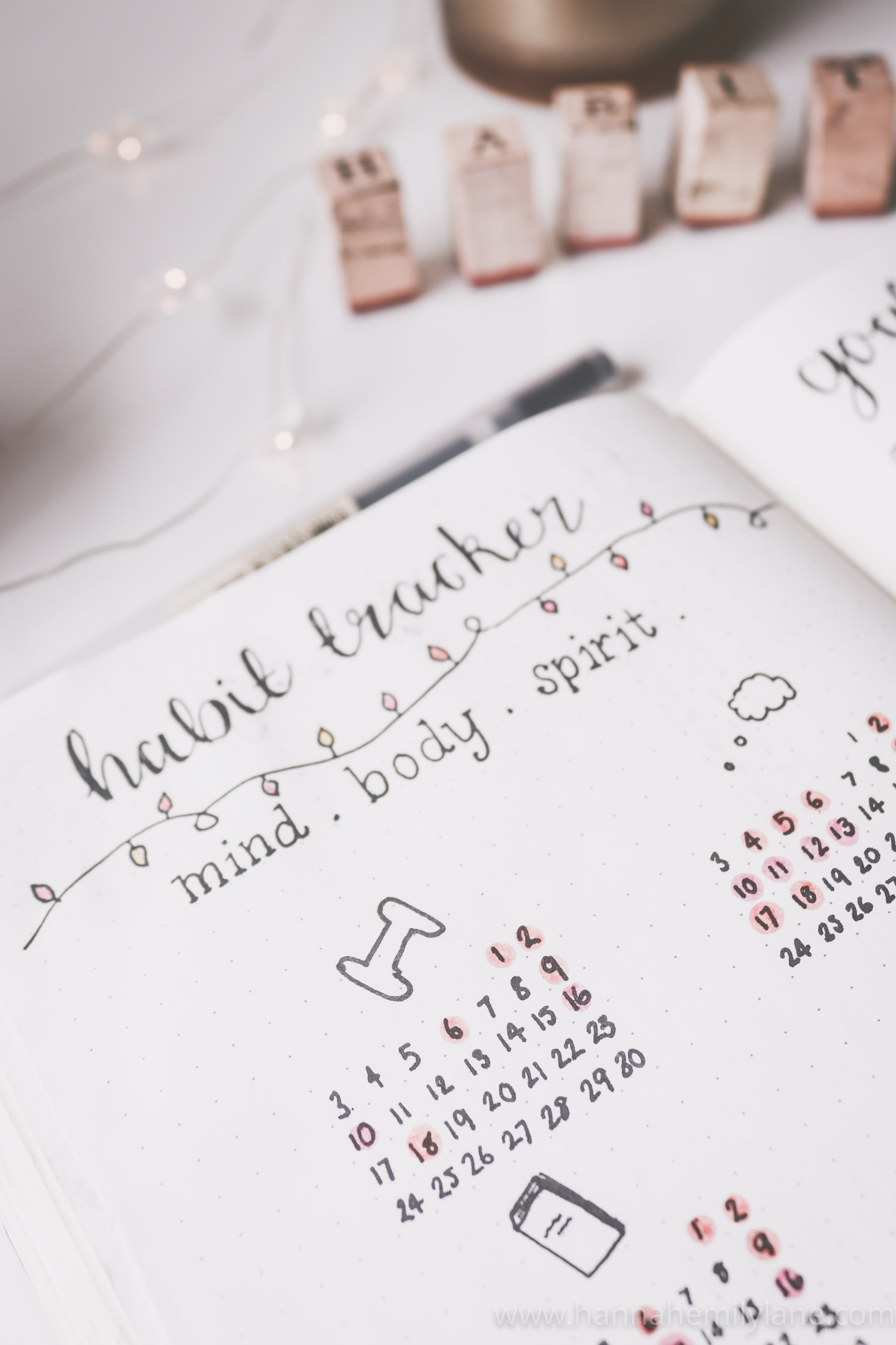 50 Habit tracker ideas - what to track and tips | www.hannahemilylane.com