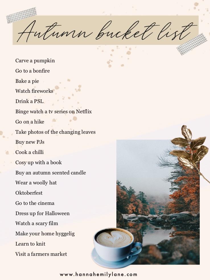 Bucket list for autumn   www.hannahemilylane.com
