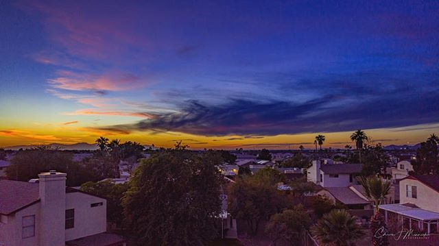 Perfect sunset over Glendale, Arizona. Shot from my @djiglobal Mavic 2 Pro. . . . #instagramaz #az365 #azfamily #az #goexploreaz #arizonalife #arizonahighways #igsouthwest #visitarizona #cbs5az #beon12 #fox10phoenix #nikonD750 #haidafilters #unrealaz #onlyinaz #onlyinaz2018 #desertlife #exploreaz #azlife #azcentral  #everythingarizona  #clouds #sunset #saguaro #arizonaisgorgeous #glendale #drone #mavic #djimavic