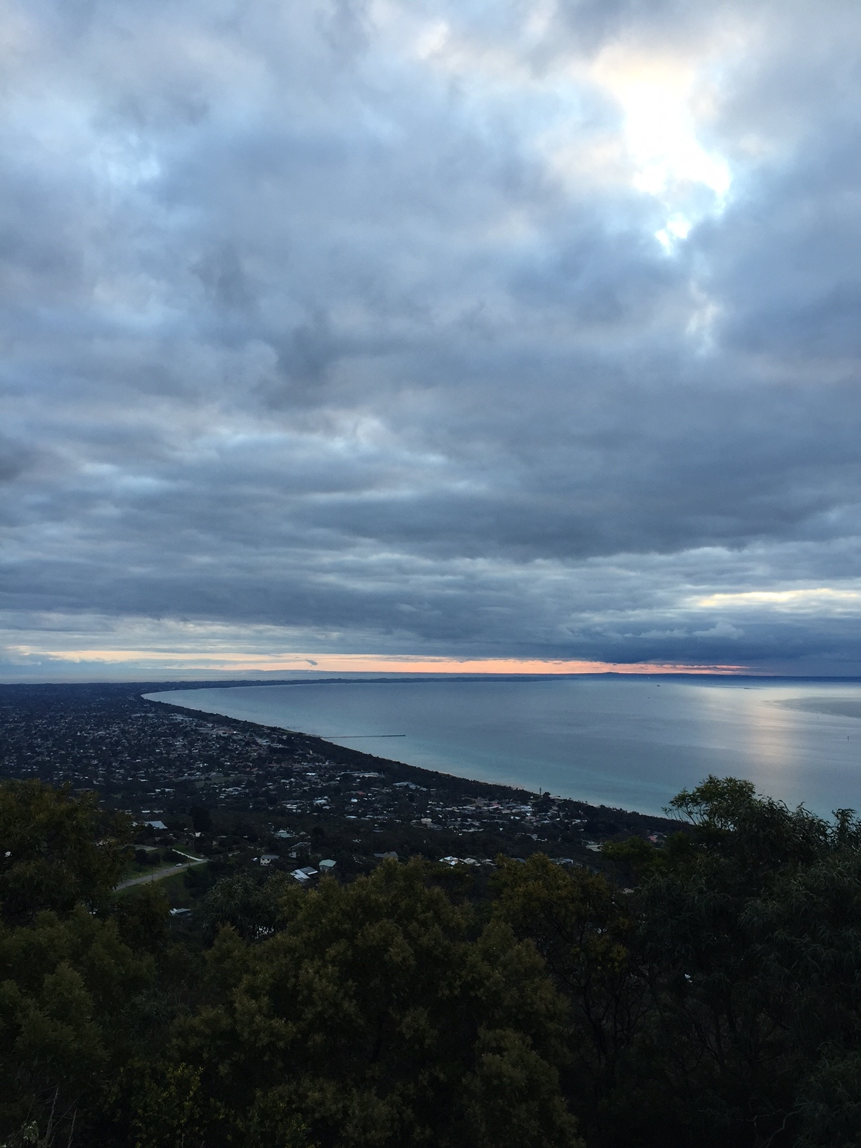 Clouds keeping the Mornington Peninsula cozy in winter