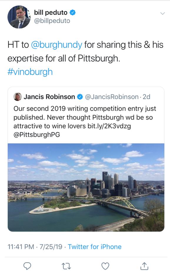 Mayor Peduto creating quite a hashtag, yinz guys.