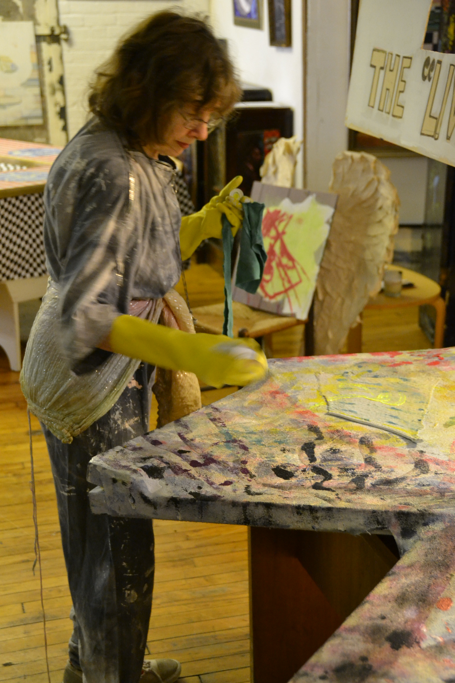 The Living Painting - Tribeca Open Artist Studio Tour