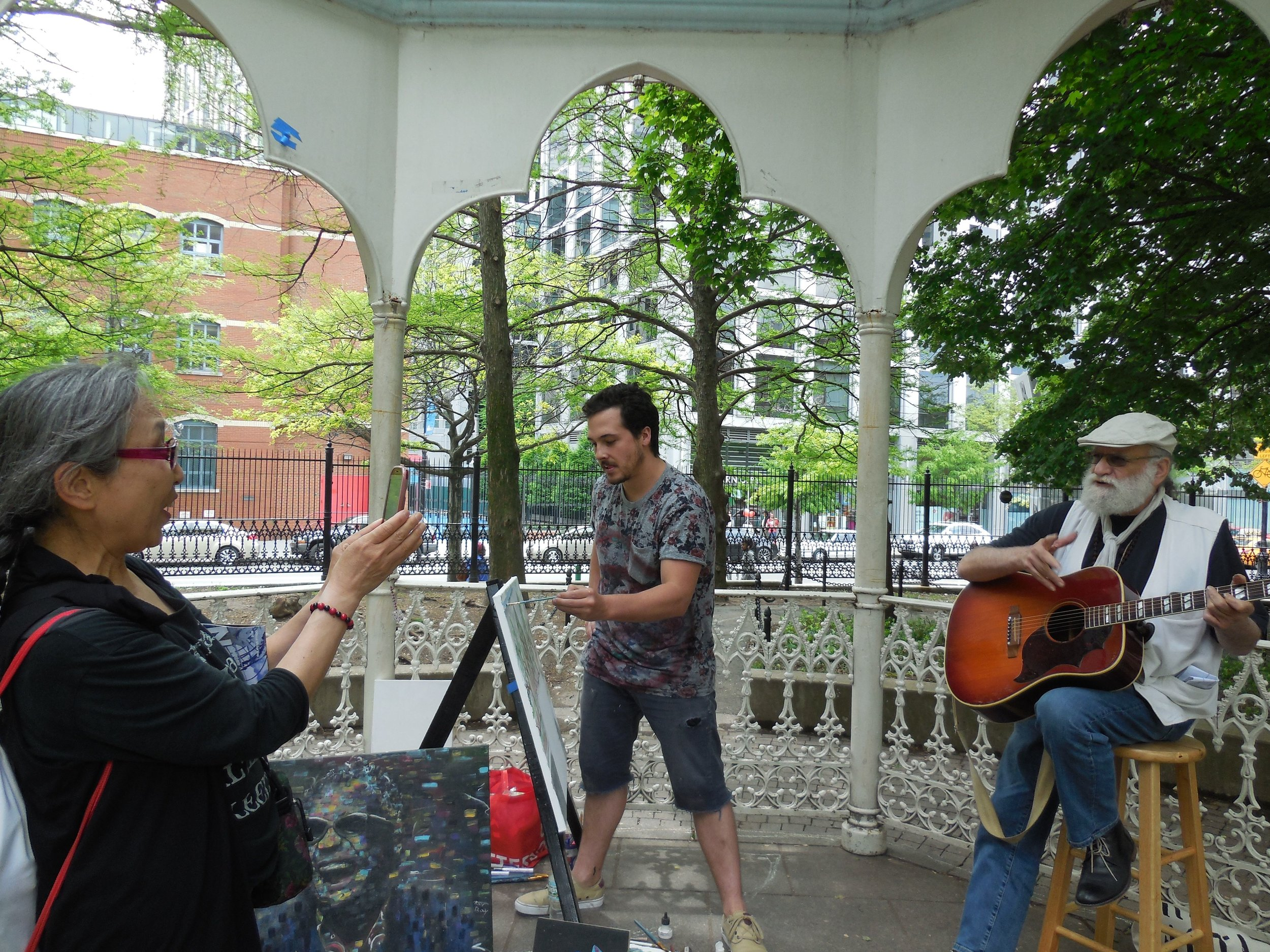 Artists In The Parks - Devon & The Legendary RT Gazebo in Washington Market Park TOAST 2016