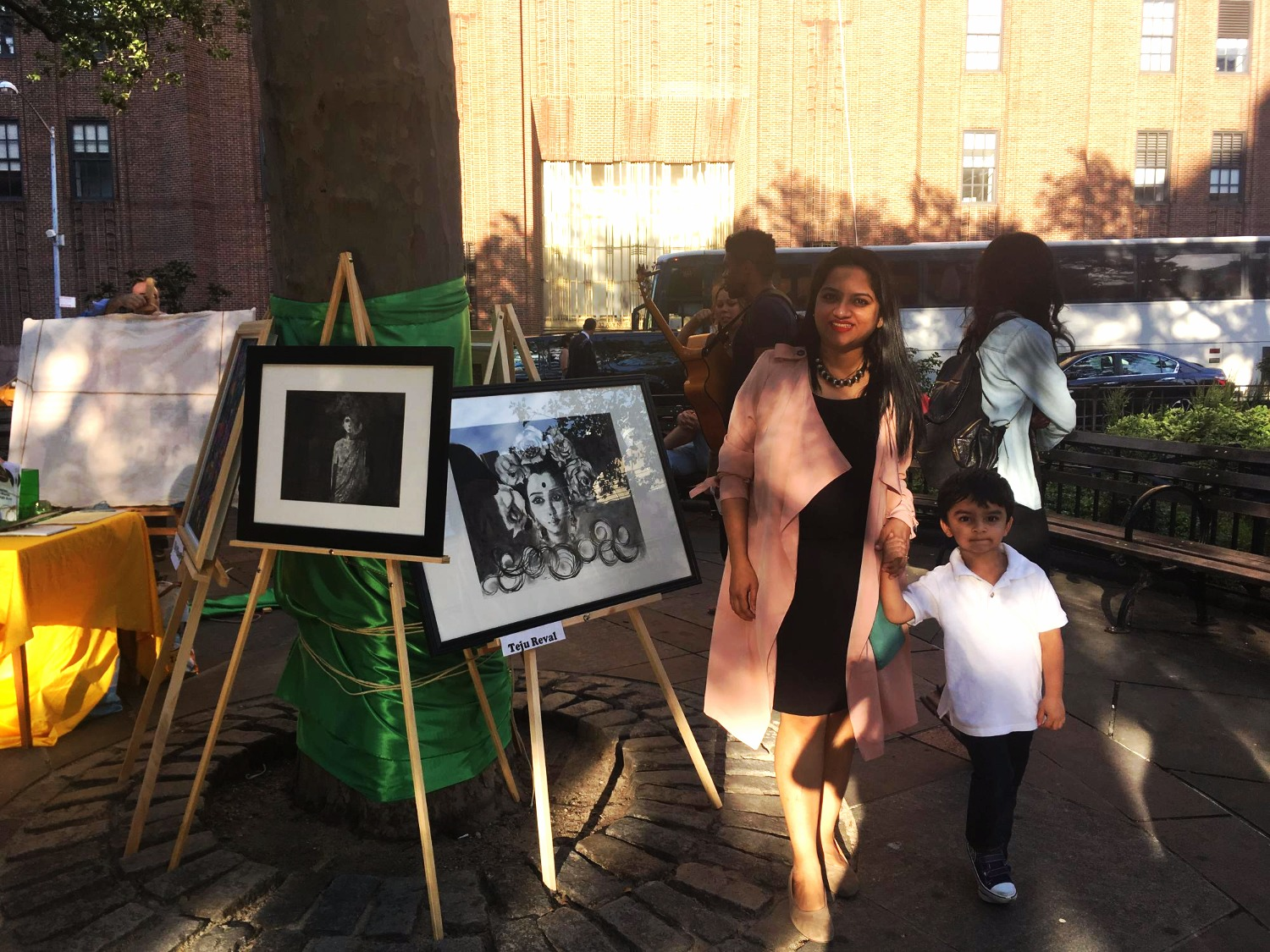 Teju Reval - Artists in The Parks  Tribeca Art Night