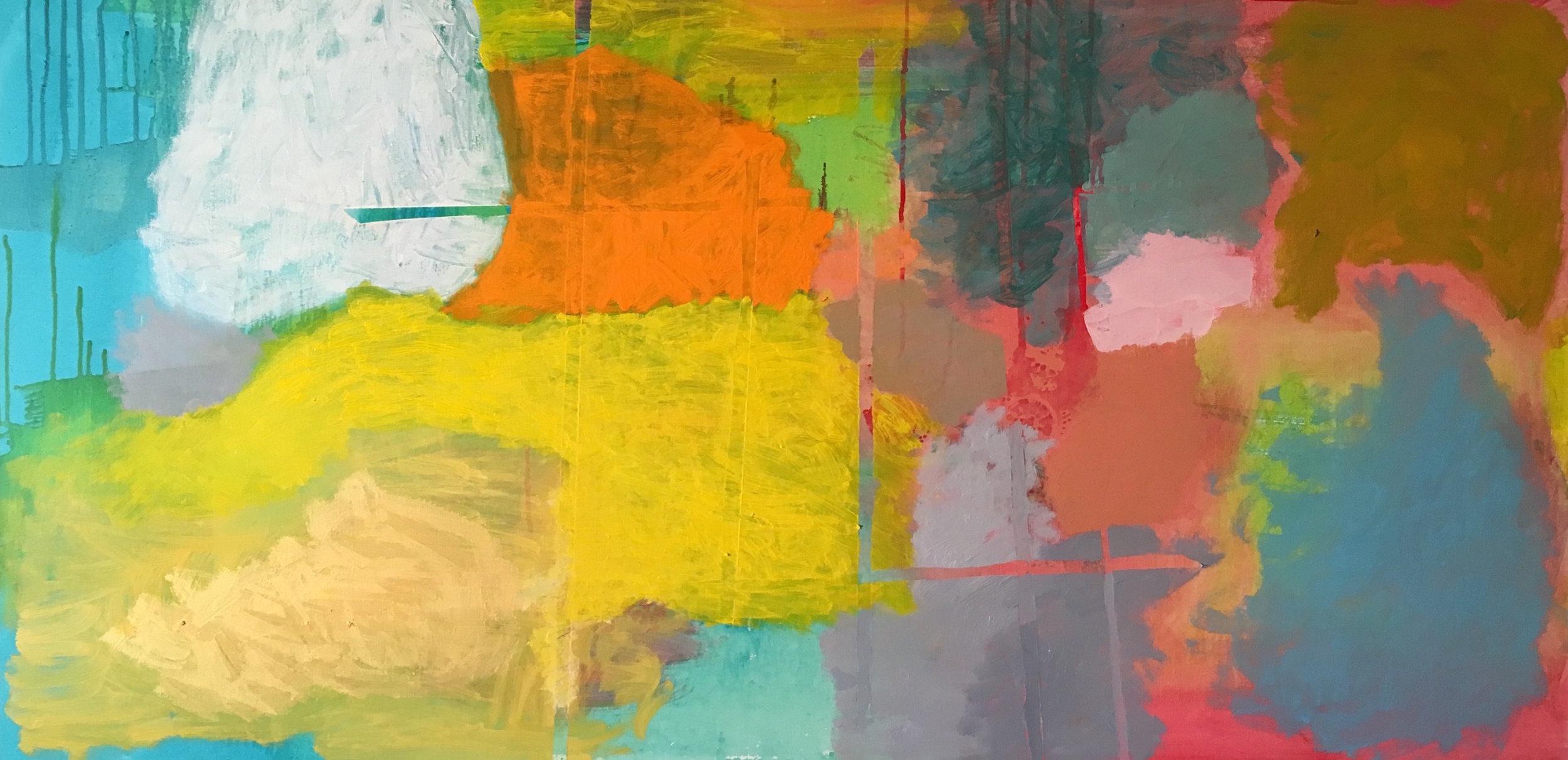 """Drifting Oil on Canvas 24""""x48"""""""